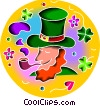 Vector Clip Art image  of a Leprechauns