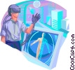 Scientists and Researchers Vector Clip Art image