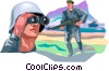 Vector Clipart picture  of a Marines