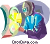 Welder at work Vector Clip Art graphic