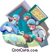 Doctors in Surgery Vector Clipart image