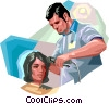 Vector Clip Art image  of a Hairdressers and Barbers