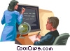 Vector Clip Art image  of a Presenters and Presentations