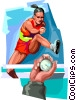 Vector Clipart graphic  of a Hurdles