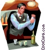 Vector Clip Art graphic  of a Bartenders