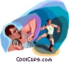 Man throwing Shot-put Vector Clip Art image