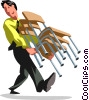 Vector Clip Art graphic  of a Businessmen