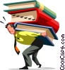 People with Books Vector Clipart illustration