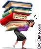 Vector Clip Art image  of a People with Books