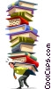 People with Books Vector Clip Art picture