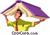 Vector Clip Art graphic  of a People with Books
