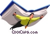 Vector Clipart picture  of a People with Books