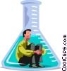 Businessman  in a beaker Vector Clip Art picture
