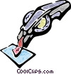 Vector Clip Art graphic  of a label maker