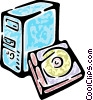 Vector Clip Art picture  of a computer desktop system