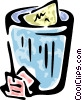 Vector Clipart graphic  of a garbage can