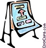 Vector Clipart graphic  of a easel