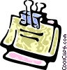 bulldog clip with papers Vector Clip Art picture