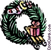 Festive Letters Vector Clipart illustration