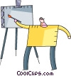 Vector Clip Art graphic  of a painters