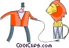 Vector Clipart graphic  of a Performers and Circus Acts