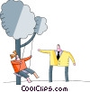 Vector Clipart illustration  of a Swings