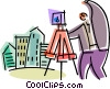 Photographers Vector Clipart illustration