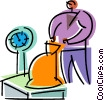 Vector Clipart picture  of a Scales