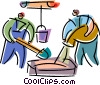 Trades People Vector Clipart graphic