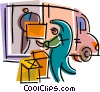 Courier Services Vector Clipart picture