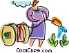 Vector Clip Art picture  of a Gardeners