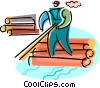 Forestry and Logging Vector Clip Art image