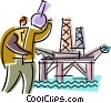 Offshore Drilling Platforms Vector Clip Art graphic