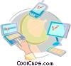Global Networks Vector Clipart graphic