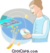 Vector Clip Art graphic  of a Fibre Optics