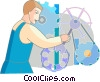 Trades People Vector Clipart illustration