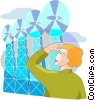 Wind Energy Vector Clipart illustration