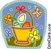 Vector Clipart image  of a Easter Baskets