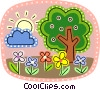 Deciduous Vector Clip Art graphic