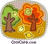 Vector Clip Art picture  of a Deciduous