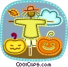 Vector Clipart picture  of a Scarecrow
