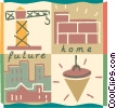 Housing Construction Vector Clipart graphic