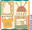 Clothing Manufacture and Design Vector Clip Art picture