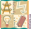 Electric Lights Vector Clipart picture