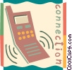 Vector Clip Art image  of a Cellular Wireless and Cordless