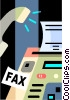 Fax Machines Vector Clip Art graphic