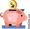 Piggy Banks Vector Clipart graphic