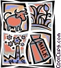 Dairy Groups Vector Clipart picture