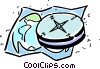 Vector Clipart image  of a Compass