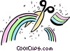 Vector Clip Art picture  of a Chasing Rainbows